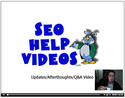 seo help videos afterthoughts teaside q&a